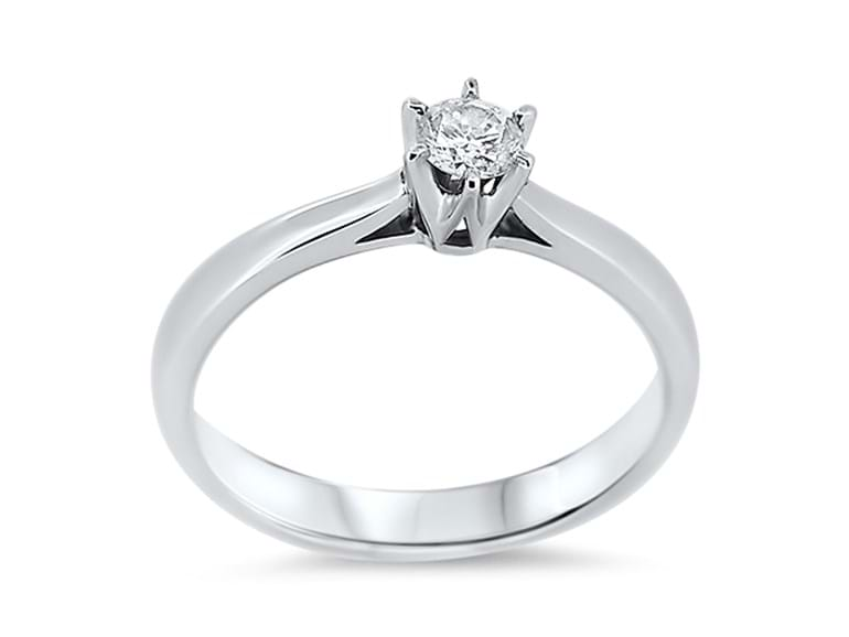 Classic 6 Claw Diamond Solitaire Ring