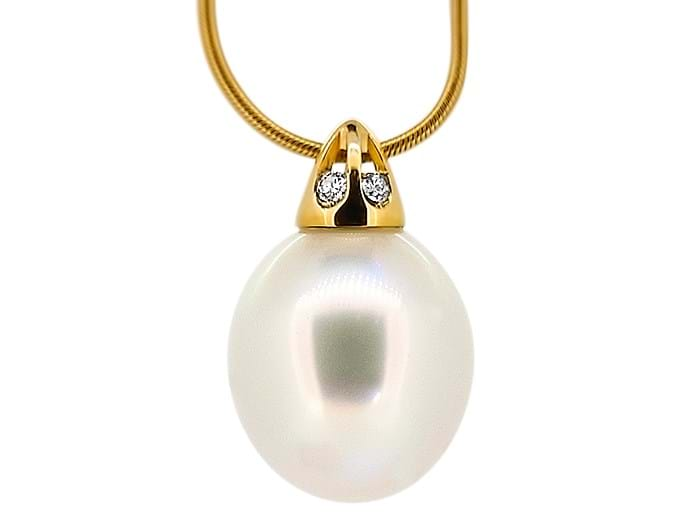 Australian South Sea Pearl and Diamond Pendant